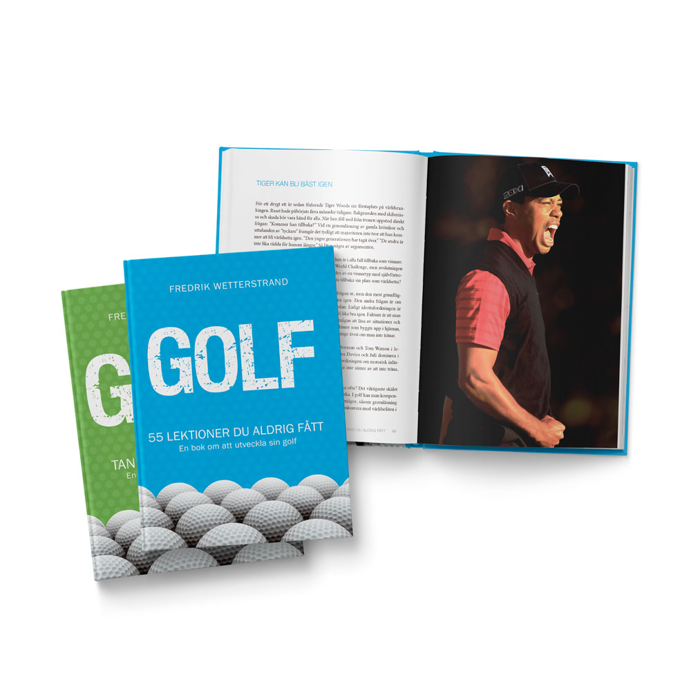 Hard cover golf books
