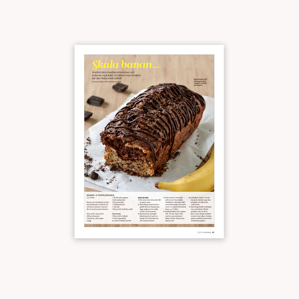 Recipe: Banana- and chocolate cake