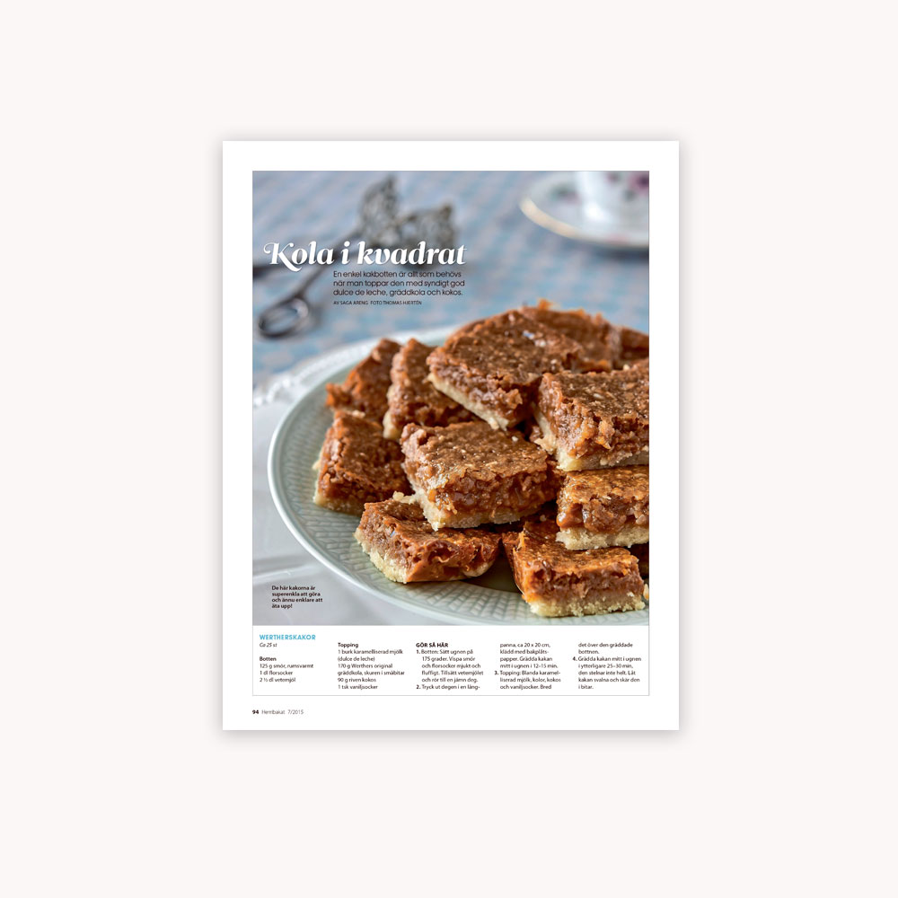 Recipe: Caramel bars