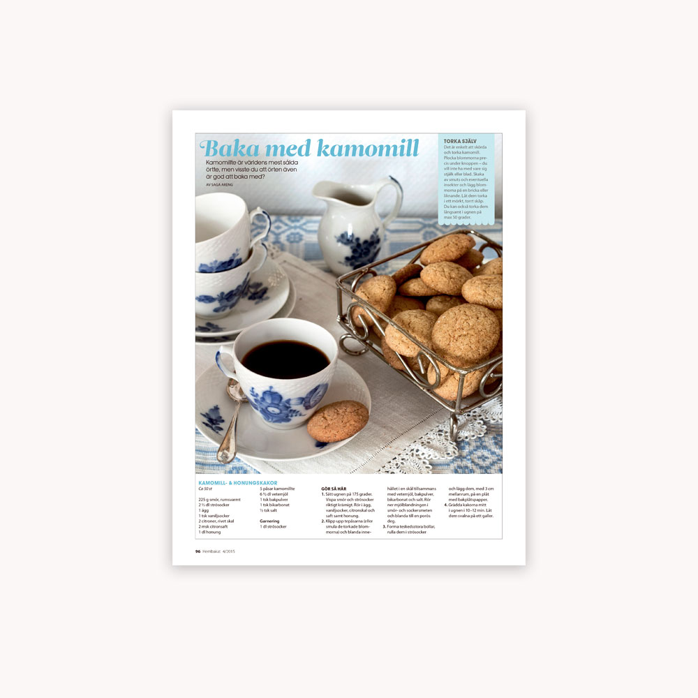 Recipe: Chamomile cookies