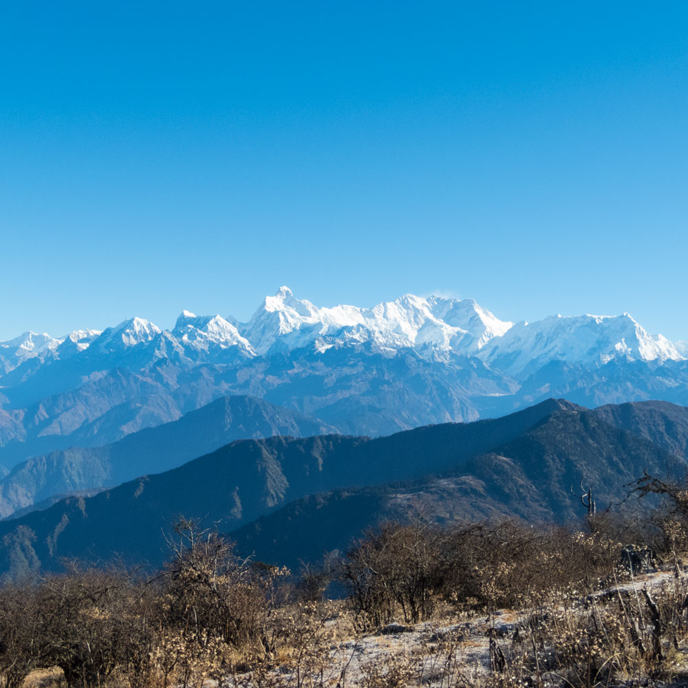 Pathibhara Devi with a Kangchenjunga view